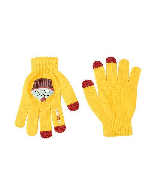 Grezzo | Женские Жёлтые Перчатки Для Смартфонов