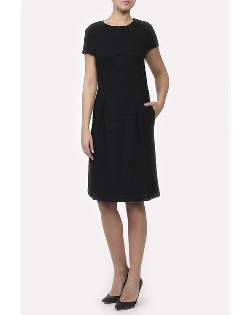 St. John   Женское Чёрное Платье Вязаное
