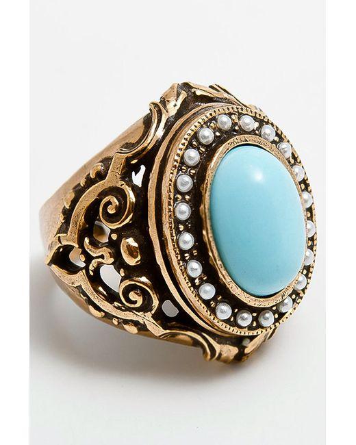 ALCOZER | Женское Голубое Кольцо