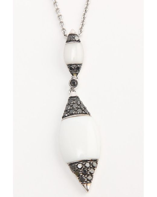 Magic Diamonds   Женская Белая Цепь С Подвеской