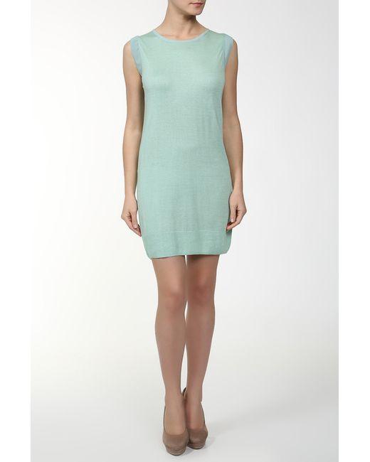 Unee+O | Женское Зелёное Платье Вязаное