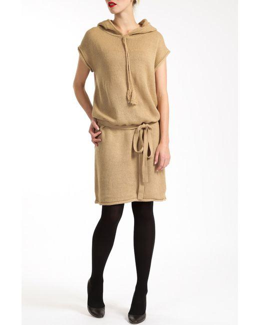 Lea Fashion | Женское Бежевое Платье