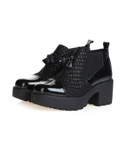 Bouton | Женские Чёрные Ботинки