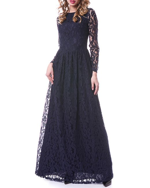 OKS   Женское Синее Платье
