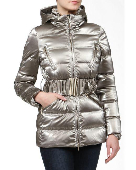 Blumarine | Женская Коричневая Куртка С Поясом