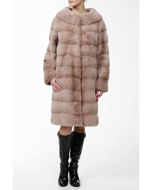ALBERTALLI | Женское Бежевое Пальто Из Норки