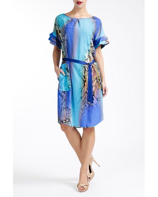 Paola Collection | Женское Синее Платье