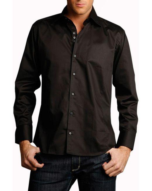 Gazoil | Мужская Чёрная Рубашка