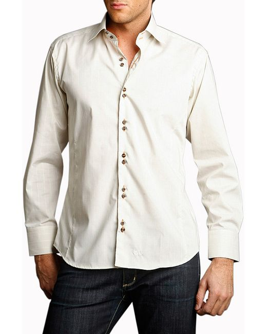 Gazoil   Мужская Белая Рубашка