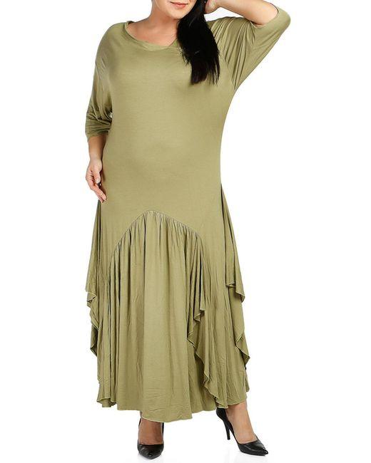 Milanesse | Женское Зелёное Платье
