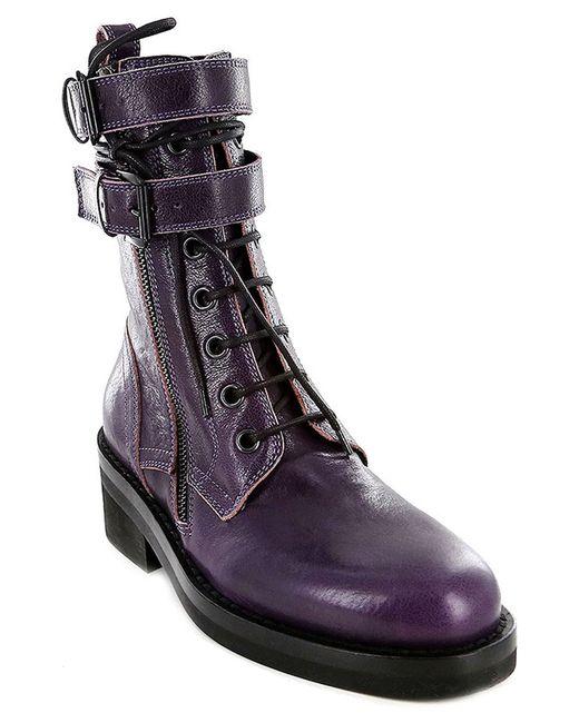 Ann Demeulemeester | Женские Фиолетовые Ботинки