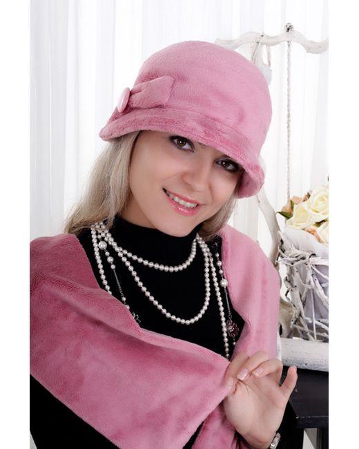Loricci | Женский Розовый Комплект Шляпка И Шарф
