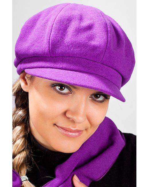 Loricci | Женская Фиолетовая Кепка С Шарфом