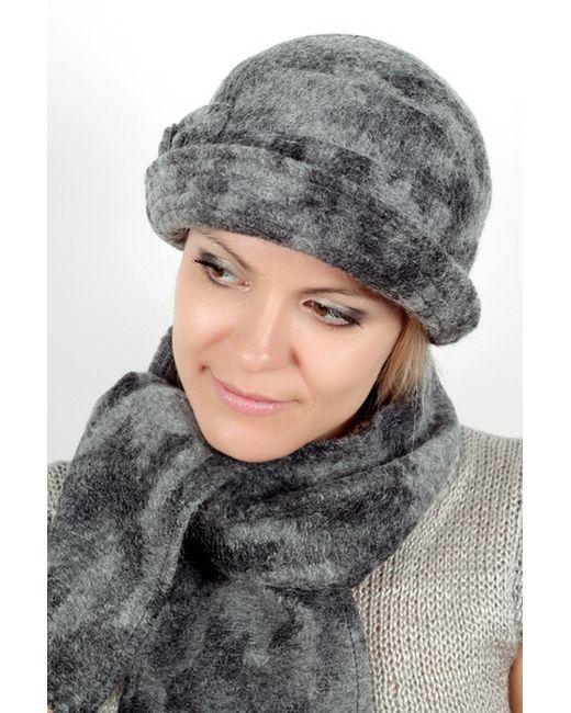 Loricci | Женский Серый Комплект Шляпка И Шарф