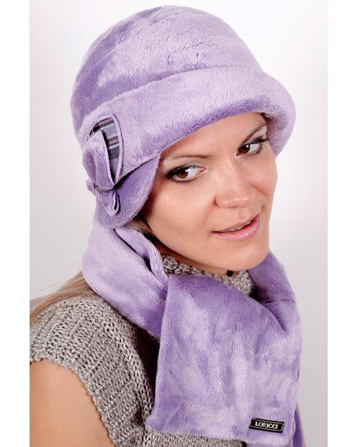 Loricci | Женский Фиолетовый Комплект Шляпка И Шарф