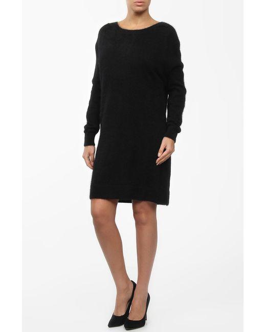 Saint Laurent | Женское Чёрное Платье