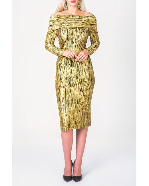 PF | Женское Золотое Платье