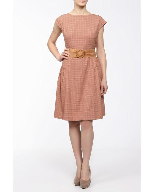 Yetonado | Женское Оранжевое Платье С Боковой Сборкой