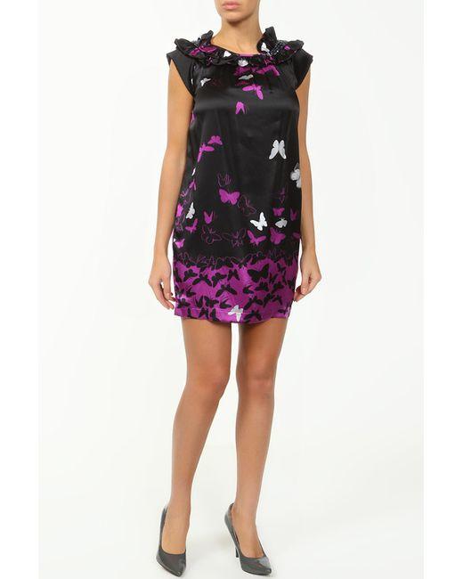 Cool Air   Женское Фиолетовое Шелковое Платье