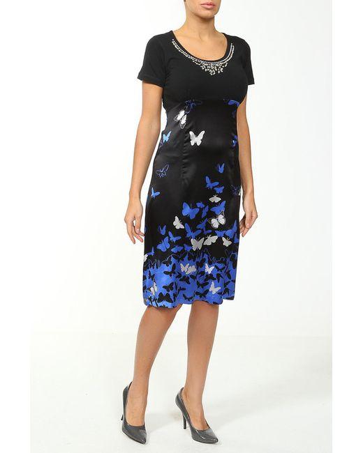Cool Air | Женское Синее Шелковое Платье