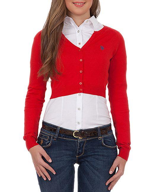 U.S. Polo Assn. | Женский Красный Кардиган