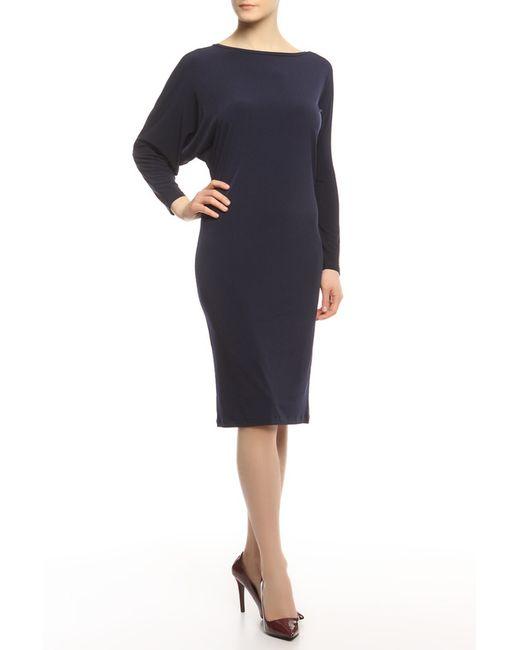 Alina Assi | Женское Синее Платье Кособочка