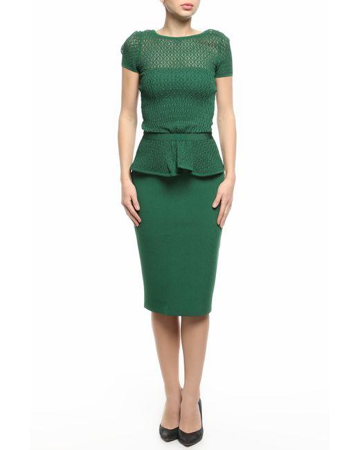 Oscar de la Renta   Женское Зелёное Платье
