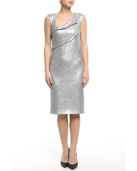 Donna Karan   Женское Серебряное Платье