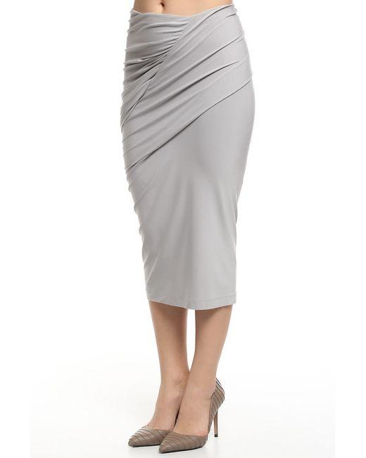 Donna Karan | Женский Серый Юбка Джерси