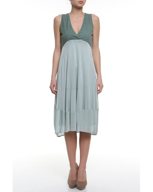 Donna Karan   Женское Зелёное Платье