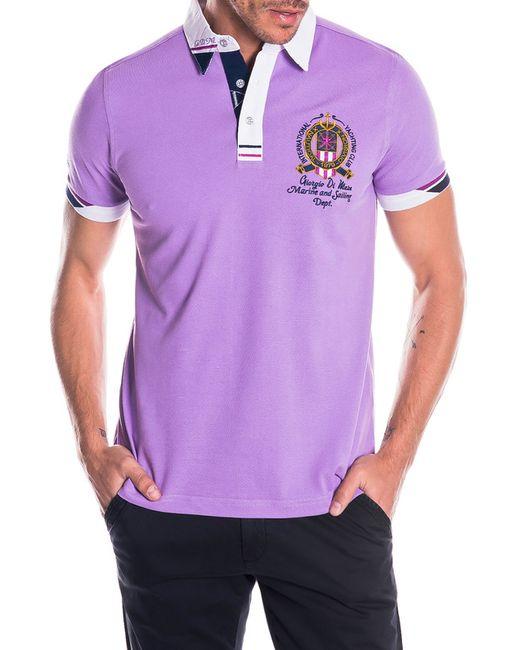 Giorgio Di Mare   Мужская Фиолетовая Футболка-Поло
