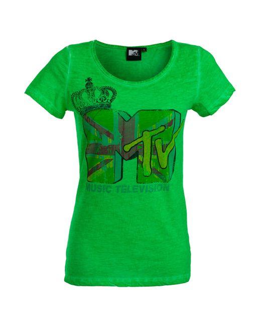 Mtv | Женская Зелёная Футболка