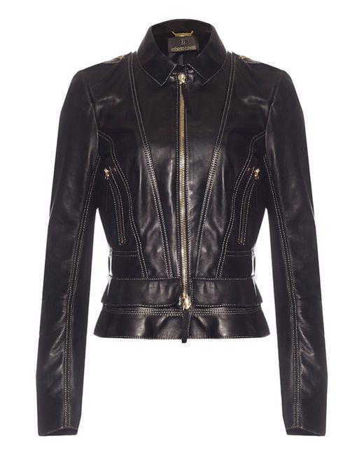 Roberto Cavalli   Женская Чёрная Куртка