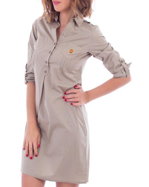 POLO CLUB С.H.A. | Женское Коричневое Платье