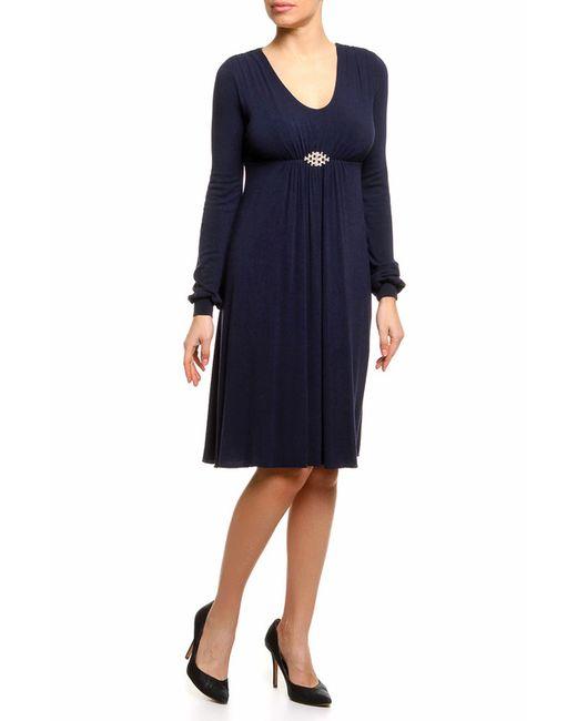 Pietro Brunelli | Женское Синее Платье Джерси