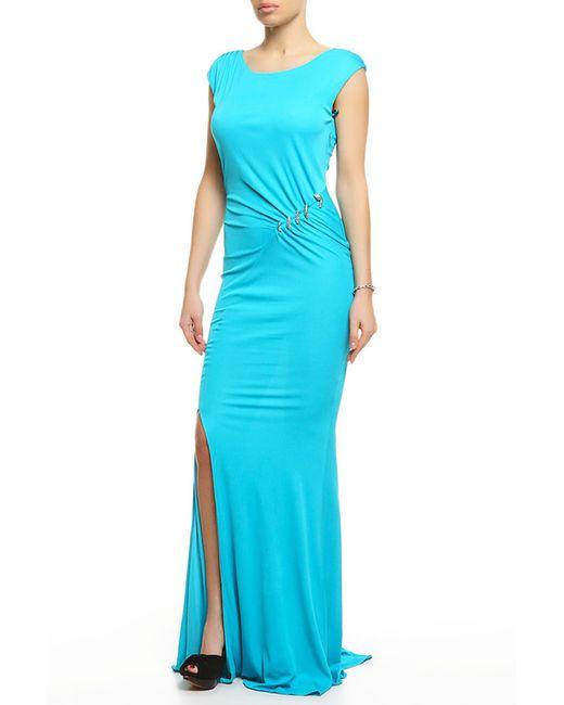 Roberto Cavalli | Женское Голубое Платье Вечернее