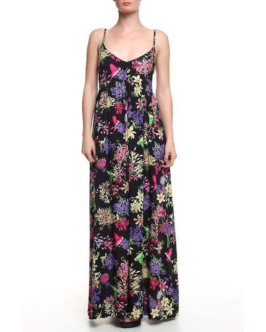 Дефиле | Женское Чёрное Платье Длинное Дефиле