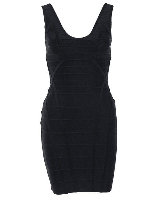 Hervé Léger   Женское Чёрное Платье Herve Leger