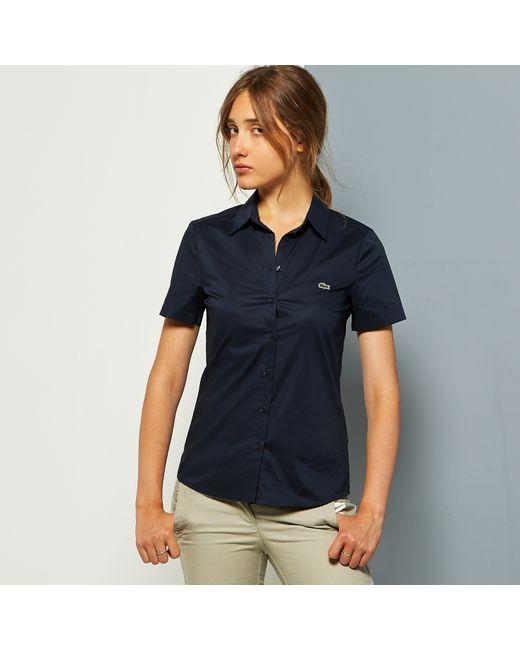 Lacoste   Женская Синяя Рубашка
