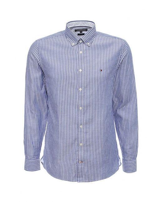 Tommy Hilfiger | Мужская Фиолетовая Рубашка