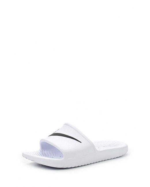 Nike   Женские Белые Сланцы