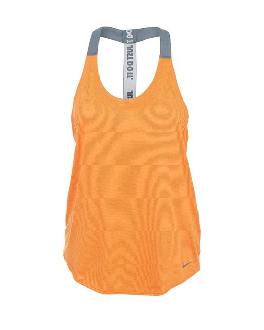 Nike | Женская Оранжевая Майка Спортивная