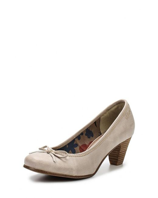 s.Oliver | Женские Бежевые Туфли