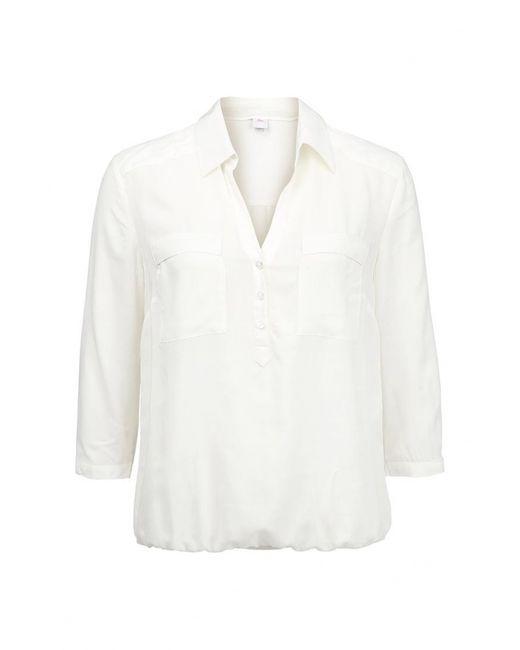 s.Oliver | Женская Белая Блуза