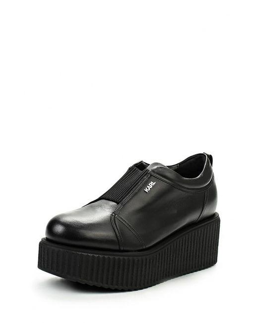 Karl Lagerfeld   Женские Чёрные Ботинки