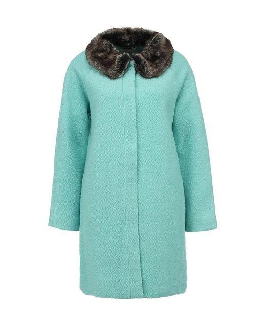Yumi | Женское Зелёное Пальто