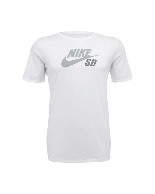 Nike | Мужская Белая Футболка Спортивная