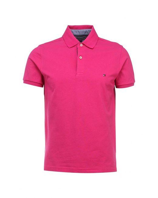 Tommy Hilfiger | Мужское Розовое Поло