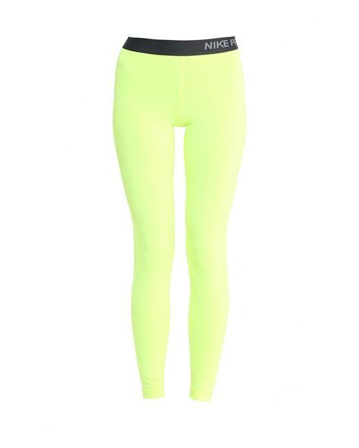 Nike   Мужские Жёлтые Тайтсы