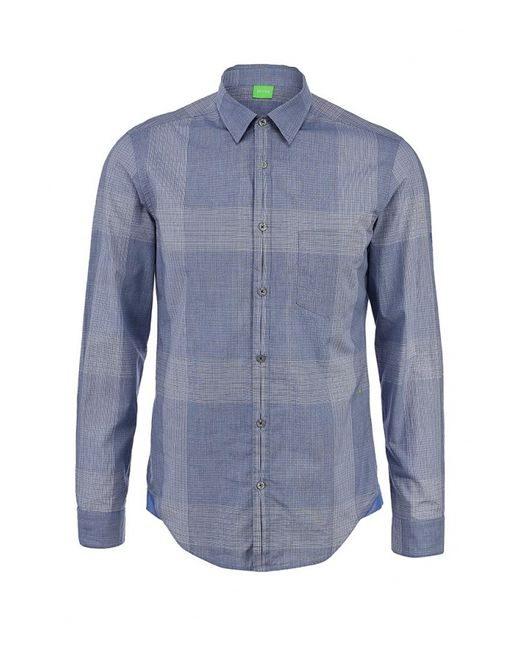 Boss Green | Мужская Синяя Рубашка